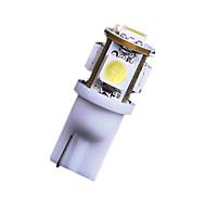 Plaka bizi ışıklar için soğuk beyaz 5 smd t10 168 194 2825 2x 7000K ampuller açtı