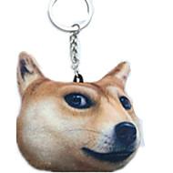 Key Chain Dog Key Chain Yellow Cotton