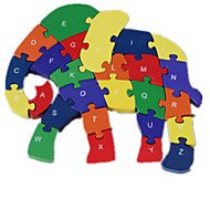 Jigsaw Puzzles Jigsaw Puzzle Building Blocks DIY Toys Elephant 1 Wood Rainbow
