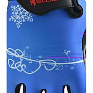 BODUN /SIDEBIKE® スポーツグローブ フリーサイズ サイクルグローブ 春 夏 サイクルグローブ 耐摩耗性 耐久性 反射材 保護 フィンガーレス ライクラ サイクルグローブ ブルー サイクリング 登山 フィットネス