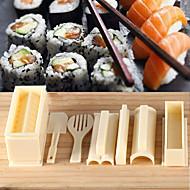 sushi főzés szerszámok diy 10 db sushi készítő sushi tekercs eszközök rizsgolyó penész