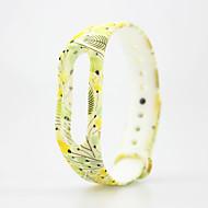 블루 노란색 카키 고무 스포츠 밴드 용 Xiaomi 손목 시계 10mm