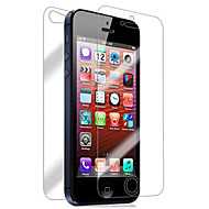 [2-Pack] Front og Back Retina Screen Protector for iPhone 5/5S