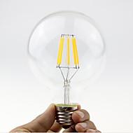 1PCS 6W E27/B22 LED Filament Bulbs G95 6 COB 600 lm Warm White Dimmable AC 220-240 or AC 110-130 V