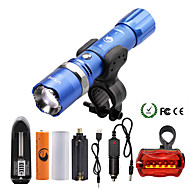 LED Flashlights/Torch Flashlight Kits LED 2000 Lumens 5 Mode Cree XM-L T6 18650 AAA Dimmable Adjustable Focus Zoomable