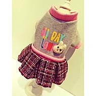 Hunde Mäntel Pullover Kleider Hundekleidung Niedlich Lässig/Alltäglich Sport Britisch Beige Grau