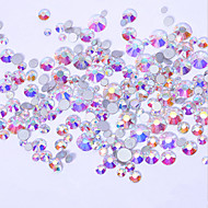 500PCS Mix Sizes AB Color Intrigue Rhinestone Makeup Cosmetic Nail Art Design