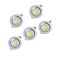 5pcs 5w torchis 220-240v blanc chaud blanc naturel descendait éclairage encastré au plafond
