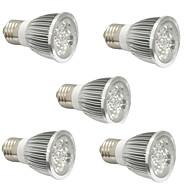 4W E14 GU10 E27 Lampy szklarniowe LED 4 High Power LED 360-400 lm Czerwony Niebieski V 5 sztuk