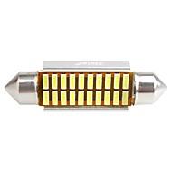 ziqiao 41 milímetros 20 LED SMD 4014 carro canbus festão lâmpadas interiores (12V / 2pcs)