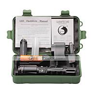 Belysning LED Lommelygter LED 2000 Lumen 4.0 Tilstand Cree XM-L T6 18650 Justerbart FokusCamping/Vandring/Grotte Udforskning Dagligdags