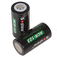 soshine 700mah 16,340 충전식 리튬 이온 배터리
