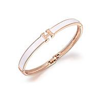 18k guld krystal h brev armbånd armbånd smykker til dame