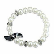 Dame Kæde & Lænkearmbånd Krystal Natur Perle Østrigsk krystal Cirkelformet Tårn Smykker Til