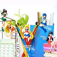 Rysunki Anime akcji Zainspirowany przez Sailor Moon Sailor Moon Polichlorek winylu 6 CM Klocki Lalka Zabawka