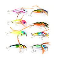 """8 szt Flies Wibracja Návnady Wibracja Muchy Różne kolory g/Uncja,45 mm/1-3/4"""" cal,Twardy plastik Pokryte pióramiSea Fishing Fly Fishing"""