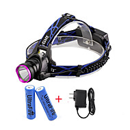 U'King® ZQ-X804#1-EU CREE XM-L T6 2000LM 3Modes Zoomable Headlamp Kit Purple Head