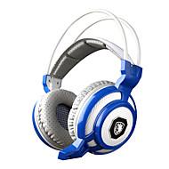 sades sa-905 vibrasjonsfunksjonen dyp bass Fone de ouvido pro gaming hodetelefoner 7 farge førte spillet headset med mikrofon for PC Gamer