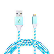 USB 2.0 Entrançado Normal Cabo Para Apple iPhone iPad 120 cm Metal Náilon Alumínio