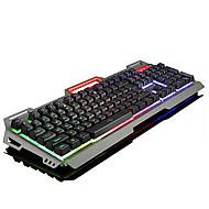USB ergonominen näppäimistö Multimedia näppäimistö pelaamista näppäimistö USB Multi värin taustavalo #