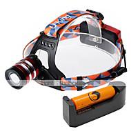 Lampes Frontales LED 2000 Lumens 3 Mode Cree XM-L T6 18650 Faisceau AjustableCamping/Randonnée/Spéléologie Usage quotidien Cyclisme