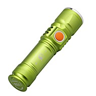 U'King CREE XML T6 3Modes 2000LM LED Zoomable USB Mini Flashlight Built-in Rechargable Battery Charge Anywhere