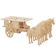 Jigsaw Puzzles DIY KIT 3D  Logic & Puzzle Toys Building Blocks  Carriage Chariot 1 Model