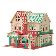 Jigsaw Puzzles DIY KIT 3D Love Full Logic & Puzzle Toys Building Blocks DIY ToysSquare Famous buildings Chinese Architecture