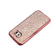 Voor Beplating hoesje Achterkantje hoesje Glitterglans Zacht TPU voor Samsung S7 edge S7 S6 edge S6 S5 Mini S5
