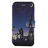 Voor Hoesje cover Kaarthouder met standaard Flip Patroon Volledige behuizing hoesje Eiffeltoren Hard PU-leer voor SamsungOn5(2016) J5