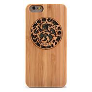Na Odporne na wstrząsy Wytłaczany wzór Kılıf Etui na tył Kılıf Brokat Twarde Bambus na AppleiPhone 6s Plus iPhone 6 Plus iPhone 6s iphone