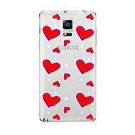 Για Διαφανής Με σχέδια tok Πίσω Κάλυμμα tok Καρδιά Μαλακή TPU για Samsung Note 5 Note 4 Note 3 Note 2