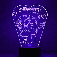 julen älskar beröring dimmer 3D LED nattlampa 7colorful dekoration atmosfär lampa nyhet belysning jul ljus