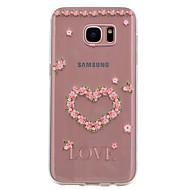 Varten Läpinäkyvä Kuvio Etui Takakuori Etui Sydän Pehmeä TPU varten Samsung S8 S7 edge S7 S6 edge S6 S5 Mini S5