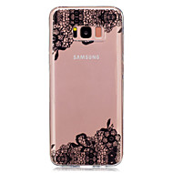 For IMD Transparent Mønster Etui Bagcover Etui blondedesign Blødt TPU for Samsung S8 S8 Plus S5 Mini S4 Mini