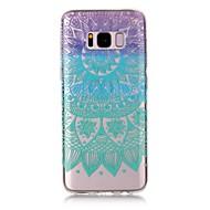 Samsung Galaxy S8 plusz s8 esetben terjed átlátszó minta hátlapot esetben mandala puha TPU az S7 szélén S7 S6 szélén s6 s5