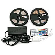 z®zdm 방수 2 x 5m 300x3528 smd rgb led 스트립 조명 및 44key 리모콘 6a eu / au / us / uk 전원 공급 장치 (ac110-240v)
