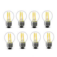 3.5 E14 E27 フィラメントタイプLED電球 G45 4 COB 400 lm 温白色 装飾用 AC220 AC230V印加時 AC240 V 8枚