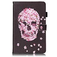 Για Θήκες Καλύμματα Πορτοφόλι Θήκη καρτών με βάση στήριξης Ανοιγόμενη Με σχέδια Πλήρης κάλυψη tok Νεκροκεφαλές Σκληρή PU Δέρμα για Samsung