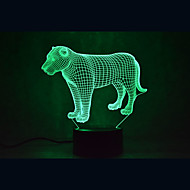 Weihnachten Löwen Schildkröten berühren Dimmen 3d führte Nachtlicht 7colorful Dekoration Atmosphäre Lampe Neuheit Beleuchtung