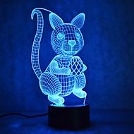 크리스마스 다람쥐 거북 터치 3 차원, 밤, 빛, 7colorful, 장식, 분위기, 램프, 참신, 조명, 크리스마스, 빛