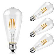 4w e26 / e27 ledede glødelamper pære st64 4 cob 400 lm varm hvid dekorative ac 220-240 v 4 stk