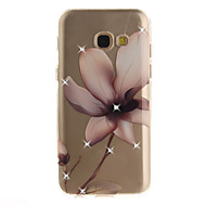Til samsung galakse a3 a5 (2016) (2017) cover lomme magnolia blomstermønster hd malet bore tpu materiale imd proces høj penetration