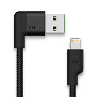 Lightning USB 2.0 Normal Kabel Til Apple cm Metall Nylon Plast
