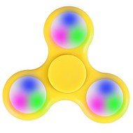 Håndspinnere hånd Spinner Leketøy Tri-Spinner LED Spinner Plast EDCLED Light Stress og angst relief Office Desk Leker Lindrer ADD, ADHD,