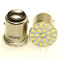 Sencart 2 x 1157 ba15d p21 / 5w 22x3014smd geleid auto auto achterzijde indicator lampen parkeerlamp gloeilamp whitedc12v