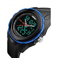 SKMEI 남성 스포츠 시계 손목 시계 디지털 LCD 달력 방수 듀얼 타임 존 경보 스톱워치 고무 밴드 멋진 블랙 그린