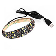 3.5 Flexibele LED-verlichtingsstrips 250 lm DC5 V 0.9 m 27 leds Warm Wit Wit