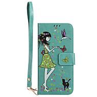 Til Samsung Galaxy S8 plus s8 telefon taske pu læder materiale kvinde og kat mønster lysende telefon sag s7 kant s7 s6 kant s6 s5 s4 s3