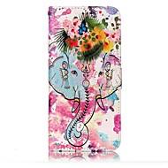 Samsung Galaxy s8 s8 plusz burkolata elefántok és virágok minta fényét megkönnyebbülés pu anyag kártya stent pénztárca telefon esetében s7